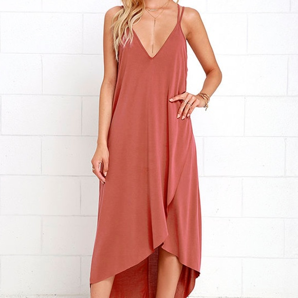 Lush Dresses & Skirts - NWT lush mauve pink midi strappy dress
